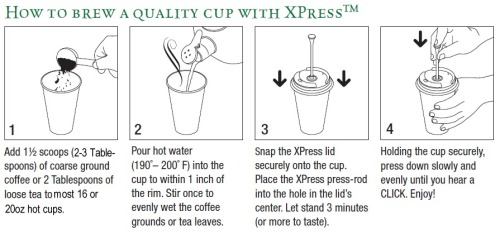 SmartCup XPress lid delivers superior taste to coffee and loose tea to customers.
